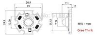 50pcs/lot  3W  Deep Red 650-660nm LED chip + 20mm pcb
