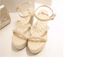 Hot sale the new fashion wedge sandals High with pearl female sandals PG108