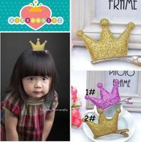 Free Shipping 2014 New 10pcs/lot Fashion Candy Color Crown Baby Hair Clips Princess Girls Hairclips Hair Accessory FJ-14004
