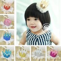 Fashion Baby Crown Hair Clips Girls' Hair Accessories Hairclips Girl Headbands Hairpins Hairgrips 10pcs Free Shipping FJ-14007