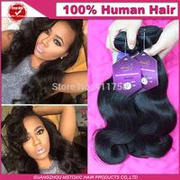 Best Selling Virgin Brazilian Hair Body Wave 8-30inch, 3 pcs a lot natural color Queen hair Brazilian Hair via DHL Free Shipping