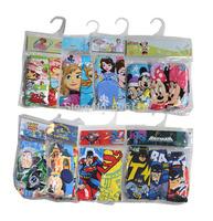free ship Retail 3pcs display-bag pack Children/kids/girls/boys cotton cartoons character underwear/panties/briefs(2-12 years)