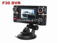 "F30 Dual Lens 2.7"" Car Dual Camera Night Vision HD DVR Car Vehicle Black Box Driving Camcorder Video Recorder"