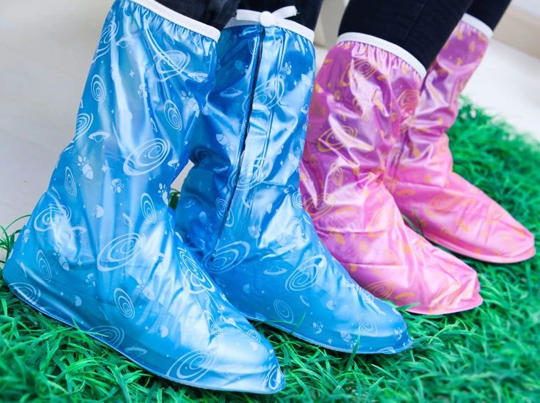 Thickening Motorcycle Rain Boot Covers Waterproof,Fashion Printing Plastic Rain Shoe Covers women For Motorcycle Bicycle Riding(China (Mainland))