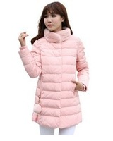 2014 thickening nude color rabbit fur women's medium-long down coat female slim