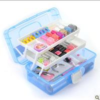 Large size Multi Utility Storage Case Box  manicure kit nail tool 3 Layer Nail Art Craft Fishing Makeup Free Shipping #20