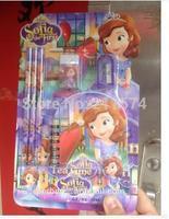 2014 Hot Sale Princess  Stationery 5pcs Hot Sale Detonation  Snow Country Sophia 6 Box 1 Stationery Set Students Study Things