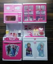 New arrival baby boys girls Frozen Kitchen toys set/kids Anna Elsa Modern Kitchen/Children Classic Toys Pretend Play Toys(Chi