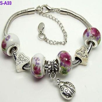 Мода ювелирные изделия браслет для женщин diy кристалл браслет посеребренные браслеты ...