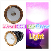 E27 COB led grow light 36w hydroponics lamps bloom,veg full sectrum spot plant light