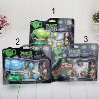 3pcs/lot 7.5-10cm High Quality PVZ Plants vs Zombies Peashooter PVC Action Figure Model Toy Christmas Gifts