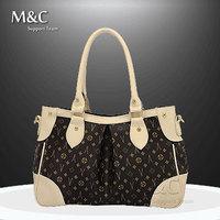 M&C High Quality Totes Vintage Women Leather Handbags Brand Famous Women Shoulder Bags Zipper Bags Women Bag SD-133