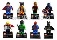 Famouse toy kids toys eductional plastic 8pcs/lot superhero Batman Minifigures Avengers Captain America Iron Man hand SY-180