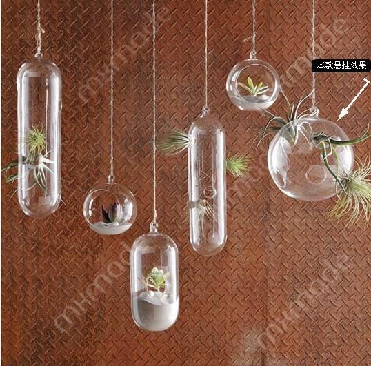 vaso da fiori vaso idroponica 2014 spedizione gratuita doppio lobbing cerchio sfera di vetro trasparente idroponica fiore decorazione della casa