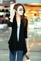 Free Shipping 100 PCS /Lot Hitz Korean version of  thin Slim long-sleeved cardigan sweater wool shawl female hollow thin coat