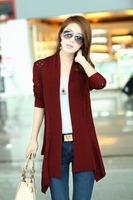Free Shipping Hotsale Hitz Korean version of  thin Slim long-sleeved cardigan sweater wool shawl female hollow thin coat