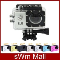 2014 New Sport Action Camera Full HD 1080P DVR DV SJ4000 Min 30M Waterproof extreme Helmet Senor Motor gopro 170 Wide Angle