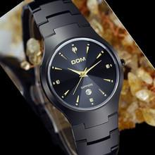 DOM men's watches sapphire casual water resistant 200meters mens watches luxury full tungsten steel quartz watch women's watch(China (Mainland))