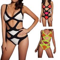 Hot Sale Sexy Swimwear Bikini Womens Bandage  Women Swimsuit Lady Swimwear Padded Beachwear Bra Monokini Free Shipping