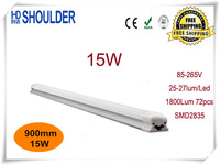 FEDEX Free Shipping 16pcs/lot 3ft 900mm 0.9m 15W T8 LED Tube Light Pure White 25LM/led SMD2835 Clear Cover led bulbs&tubes