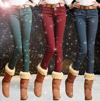 2014 Winter New Velvet Thickening Pencil Pants Legging Fit Slim Thicken Trousers Leggings 2W0108