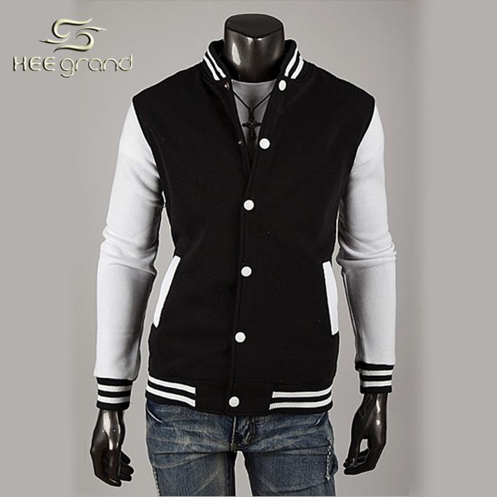 2015 New Arrival Men's Fashion Splicing Baseball Jacket Male Casual Comfortable Spring Autumn Wear Coat MWK025(China (Mainland))