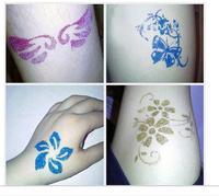 2015 New Healthy Diamond Powder Shimmer Glitter Tattoo Creative DIY Waterproof 3D Body Art painting Tattoo B53103