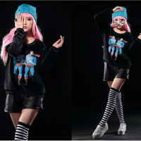 2014 New Woman Hoodies Long Sleeve Harajuku Style Novelty Cartoon Superman Print Casual Bottoming Pullovers Sweatshirts SA14-191