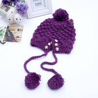 2013 Korean version of the new winter wool hat knitted hat lady pompon hat hats wholesale hedging