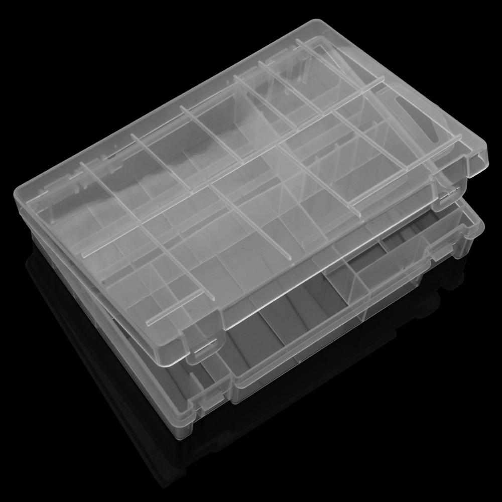 Transparent Battery Box Accumulator AA AAA C D 9V Battery Storage Case Organizer Holder Consumer Electronics