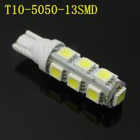 2pcs/lot T10 led 13 LED 5050 SMD Car Light 194 168 192 W5W Wedge External Lamp Bulb 12V CL113