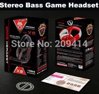 Wholesale Free Shipping VP-X9 High Quality NdFeB Hi Fi Speakers Surround Gaming Headset Stereo Bass Headphone 24PCS/lot