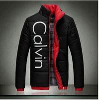 2014 best quality plus size the hot-selling fashion MEN wadded jacket Men's padded jacket Red Black white M-5xL