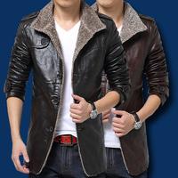 Fashion Top Quality Regular Fit Genuine Leather Jackets Men Large Size Fur Warm Brand Jacket Winter Coat 3XL