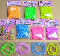 "Transparent heart - shaped Rubber band DIY weave bracelet Loom amazing children gift 300 PCS/pack 12 ""S"" Rubber bands wholesale"
