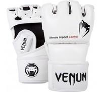 "VENUM ""IMPACT"" MMA GLOVES - SKINTEX LEATHER - WHITE"