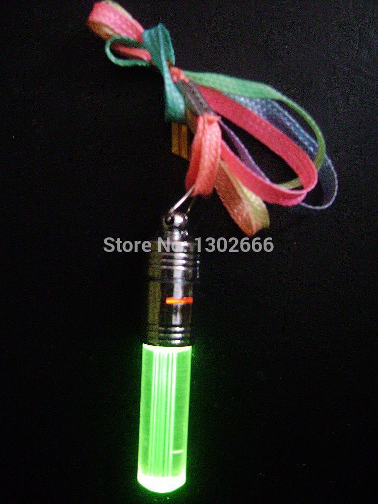 led flashing necklace led pendant bead necklace green led , 100 PCS per lot(China (Mainland))
