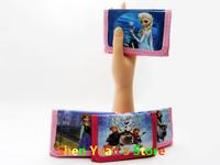 New fashion 24pcs/lot baby girls Frozen wallet Purses kids  Elsa Anna money bag party supplies