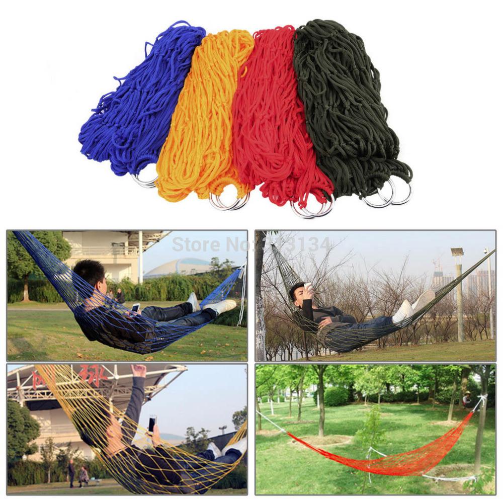 1Pcs Sleeping Bed Outdoor Travel Camping Hammock Garden Portable Nylon Hang Mesh Net High Quality(China (Mainland))
