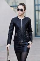 Autumn and spring new Women jacket motorcycle leather jacket sheep skin women Slim Short coat Jacket for women