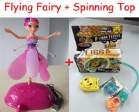 2014 Cheap Mixed Toys Set Flying Fairy Sunbeam Flower Flitter Fairies + Beyblade Spinning Top