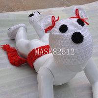 Free shipping newborn baby children boys girls child photography props Crochet Handmade wool modeling Cubst 0-8M