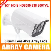 "1/3"" HDIS cctv sony ccd&cmos board HD8050 238 800TVL Outdoor array Led OSD menu security  camera"