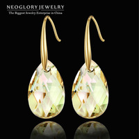 Neoglory Austria Crystal 14K Gold Plated Charm Dangle Drop Earrings for Women Fashion Trendy Party Jewelry 2014 New  Arrival