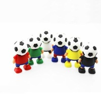 Fast ship 4gb 8gb 16gb 32gb World Cup football man USB 2.0 flash drive memory pen disk Drop ship dropshipping