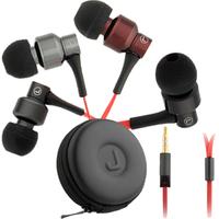 3.5mm JBM MJ8600 In-ear Stereo Earphone Headphone with Mic for MP3 MP4 Coffee Black Silver Grey
