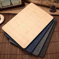 Original Mooke Luxury Wood Grain Flip Ultra Thin Foldable Stand Leather Case Smart Cover For ipad mini 1/2 Retina ipad Air Shell