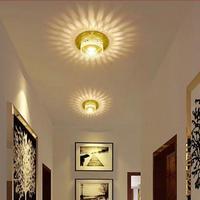 modern led ceiling lights for living room 3W crystal light hallway decoration lamps 110V 127V 220V 230V 240V light fixtures
