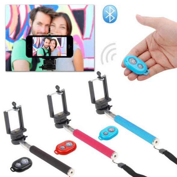 Selfie Rotary Extendable Handheld Camera Tripod Mobile Ph