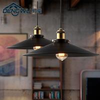 Modern vintage loft brief wrought iron pendant light bar light warehouse lamps